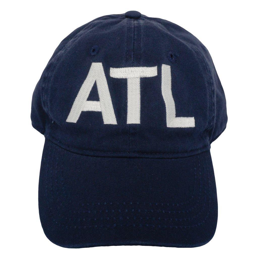 1c3c2a2fba8 ATL Atlanta Classic Airport Code Hat Navy at Amazon Men s Clothing store