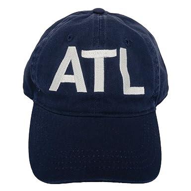 00725014a79e0 ATL Atlanta Classic Airport Code Hat Navy at Amazon Men s Clothing ...
