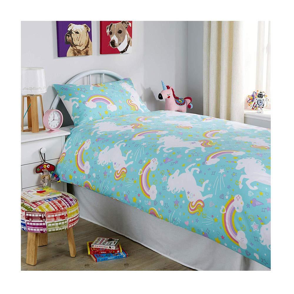Unicorn Duvet Cover Set Kids Children Bedding New Double Size Bed Luxury Designer Quilt Cover – Latest Design, Duckegg De Lavish