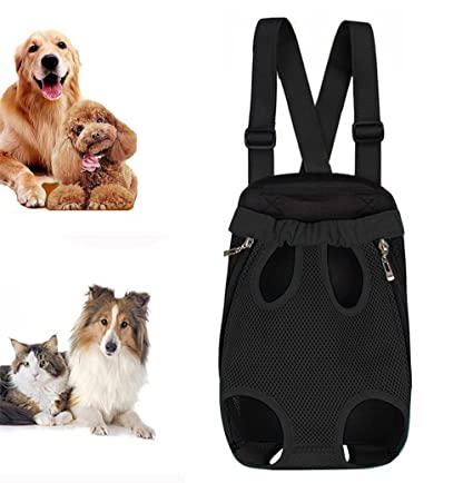 front dog carrier legs out