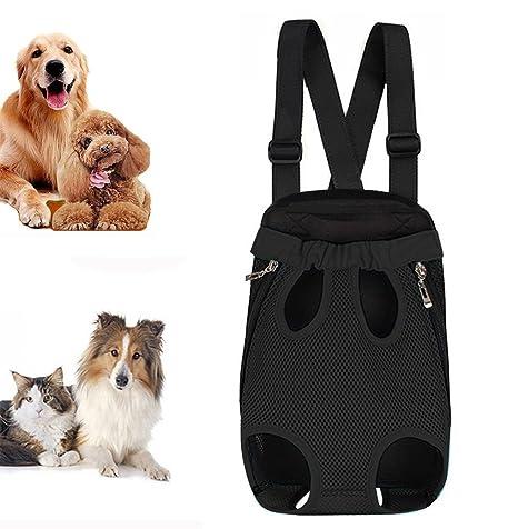 iPetoo Mochila del Perro Gatos - Ajustable para Mascotas Gato Frontal Perro Bolsa Mochila Viaje -