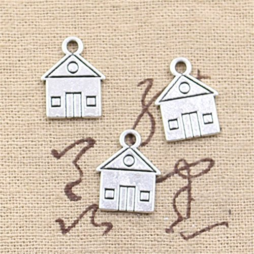 50pcs Charms Cabin House Building 16x12mm Antique Making Vintage Tibetan Silver Zinc Alloy Pendant