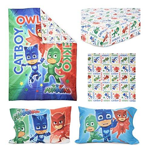 Pj Masks Catboy Owlete Gekko 4 Pc Toddler Bed Set Blue