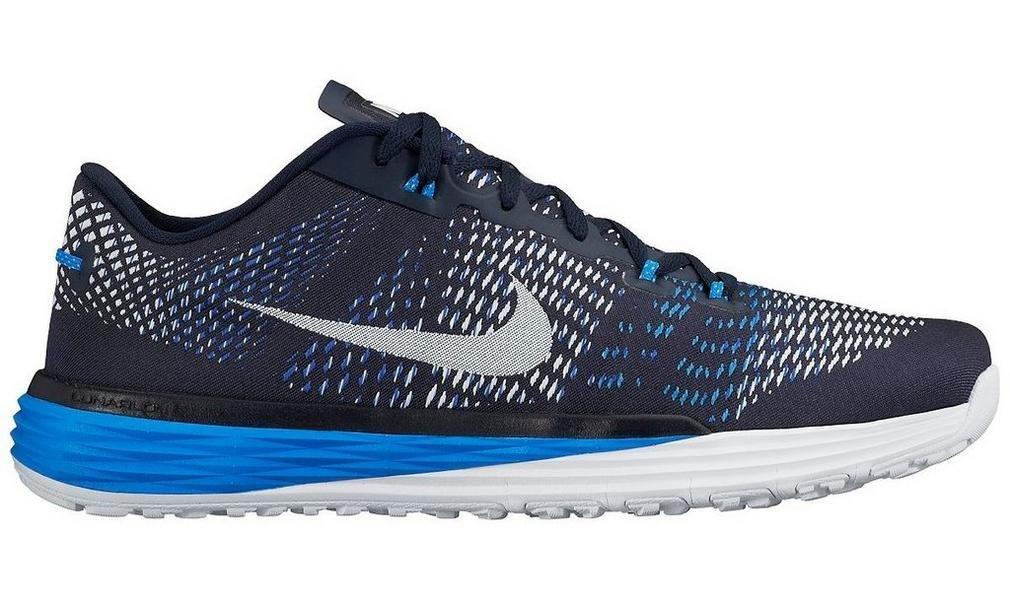 Nike Lunar Caldra Zapatillas de Deporte, Hombre 41 EU|Negro / Blanco / Azul (Obsidian / White-rcr Blue-pht Bl)