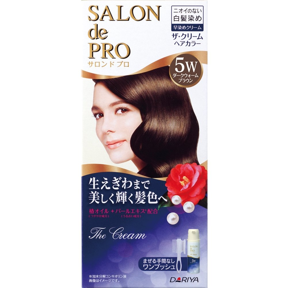Salon De professional The cream hair color (for gray hair) 5W Dark Warm Brown>