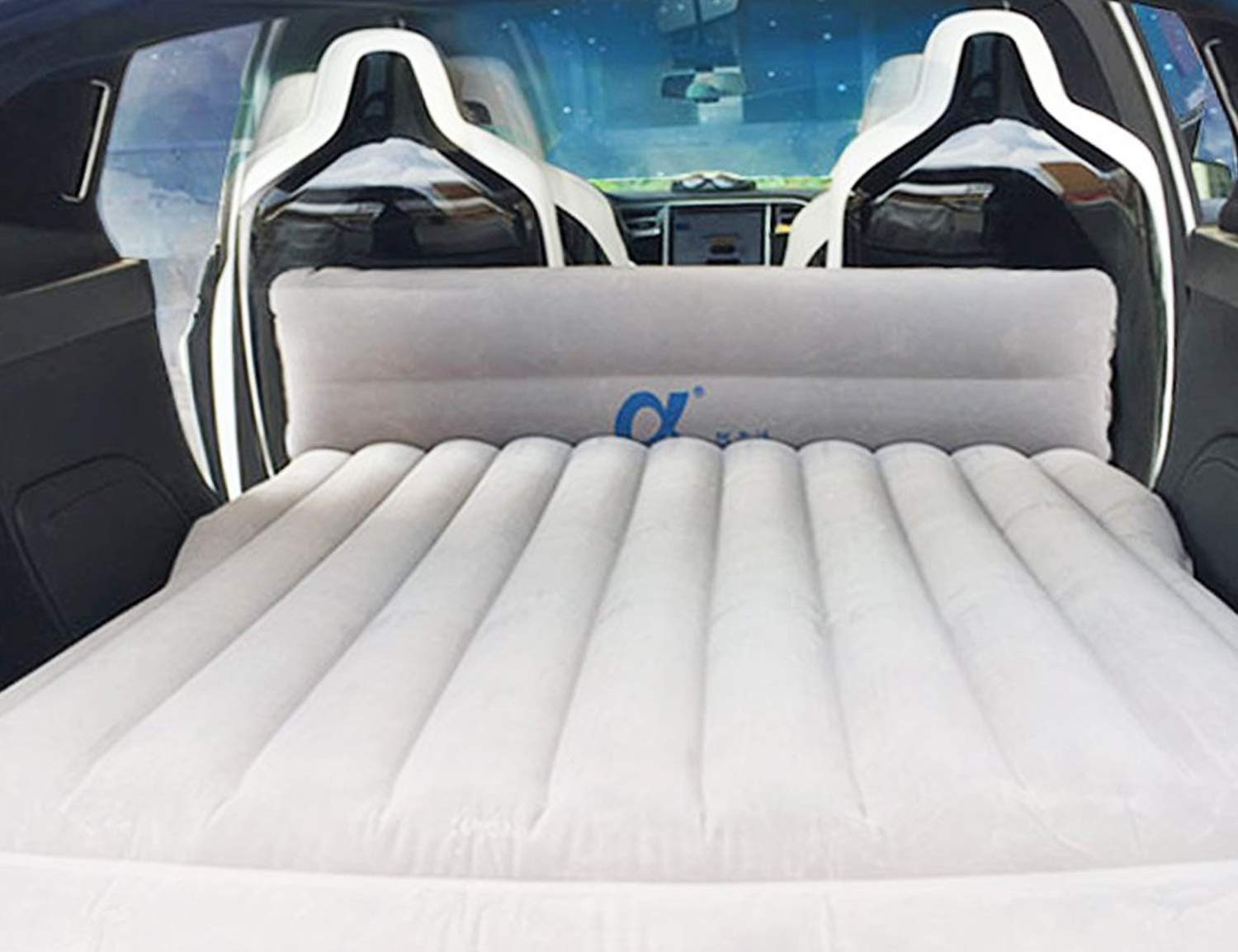 Topfit Car Camping Air Bed Car Travel Inflatable Mattress Vehicle Mount SUV Seat competible Model S and Model X 5 Seater and Model 3 by Topfit