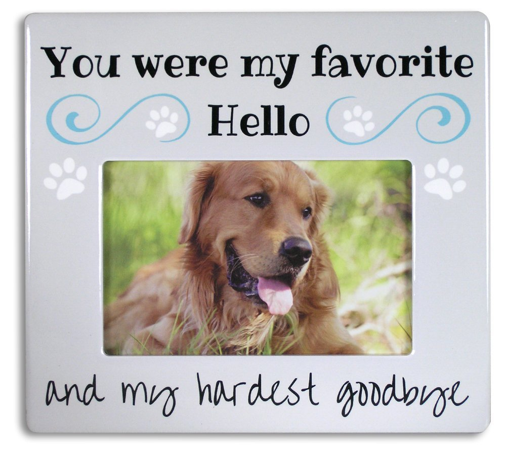 Amazon pet memorial picture frame bereavement photo frame amazon pet memorial picture frame bereavement photo frame for dog or cat you were my favorite hello and my hardest goodbye holds a 4 x 6 photo jeuxipadfo Choice Image