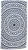 Bersuse 100% Cotton - Venice Turkish Towel - Bath Beach Fouta Peshtemal - Mandala Boho Hippie - Dual-Layer Handloom Pestemal - 39X71 Inches, Dark Blue (Set of 6)