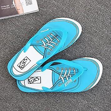 Xing Lin Sandales Pour Hommes Tong Hommes Hommes Portable D'Flip-Flip Chaussons Chaussures De Plage D'Été Sandales Tendance Men'S Blue xU4FQNly