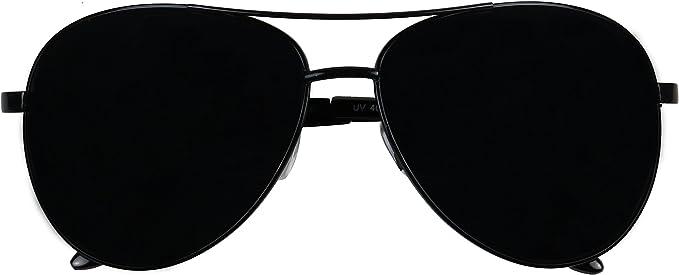 SUPER DARK LENS Retro Design Retro Big Large Aviator Sunglasses Oversize Black