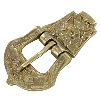Amazon Com Viking Age Brass Medieval Buckle Arts Crafts Sewing
