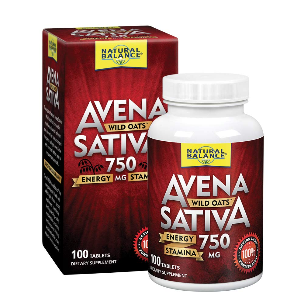 Natural Balance Avena Sativa Wild Oats 750 mg | Herbal Supplement for Healthy Energy, Stamina & Focus | Brain & Mood Support | Lab Verified | 100 Tabs by Natural Balance