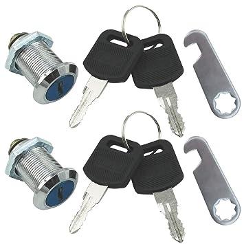 com-four® Cerraduras de buzón 2, Cerradura de Muebles con Llave, 30 mm (02 Piezas - 30 mm): Amazon.es: Hogar