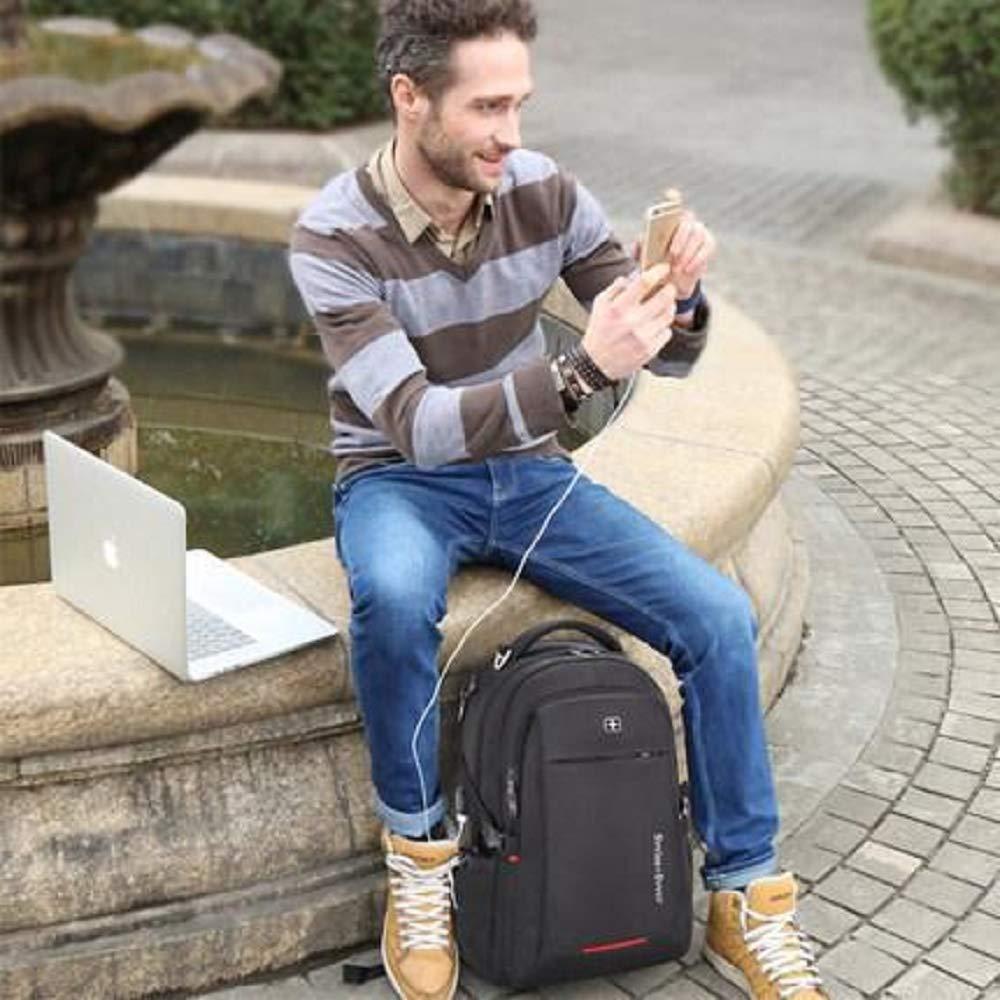 Large, Black Patented Security Technology BagPrime USB Charging 15.6 Inch Backpack Adjustable Shoulder Straps