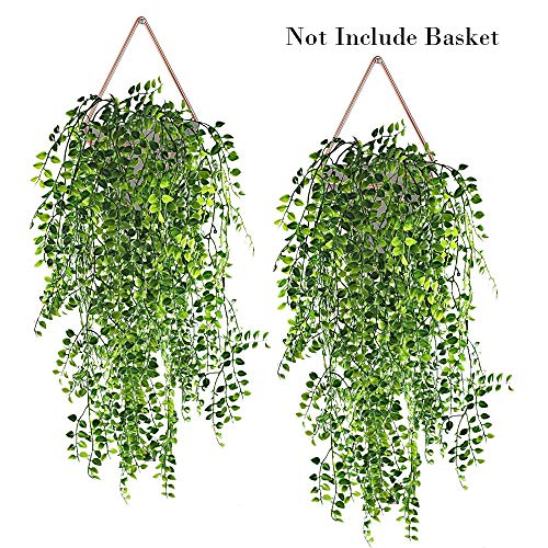 (Hukidoy Artificial Plants Vines Fake Hanging Ivy Decor Plastic Greenery for Wall Indoor Outdoor Hanging Baskets Wedding Garland Decor (Pack of)