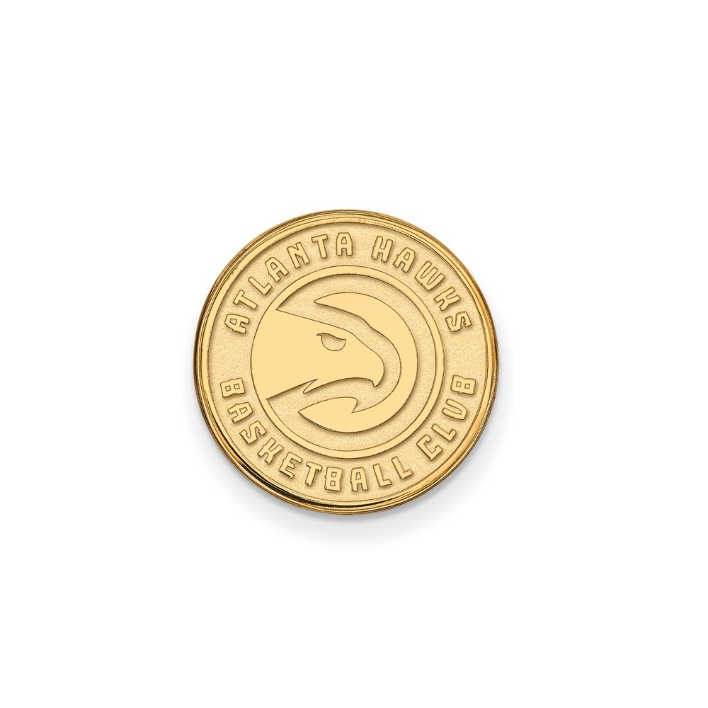 NBA Atlanta Hawks Lapel Pin in 14K Yellow Gold by LogoArt