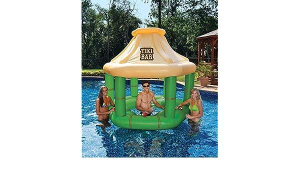 Amazon.com: 7.5 Inflatable Floating Tropical Tiki Bar for ...