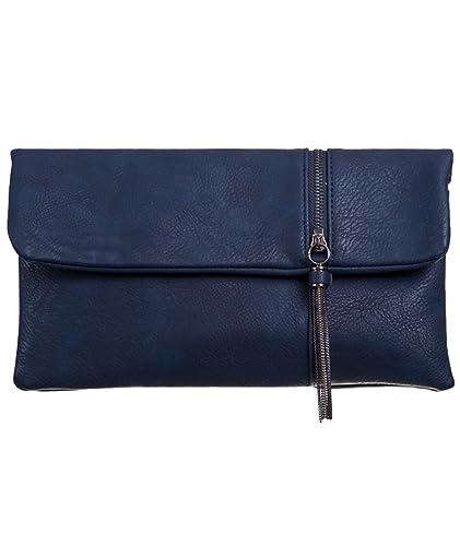 e1ebe6aee Purple Possum Navy Clutch Bag, Dark Blue Faux leather Tassel Trim Evening  Bag, Ladies Prom Wedding Handbag, Envelope Bag: Amazon.co.uk: Shoes & Bags