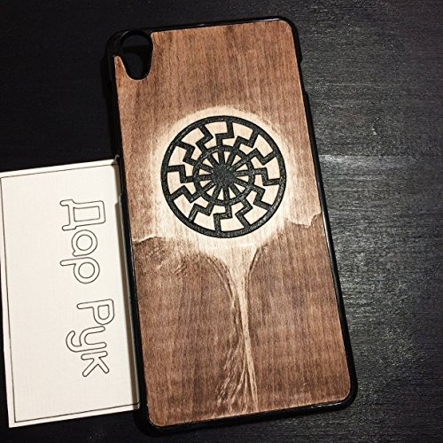 Wood carved case for Lenovo A2010, A6000, A7000, A7010, K900, S850, handmade custom phone accessories, Black Sun