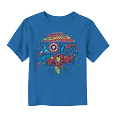 662da833 Amazon.com: Marvel Toddler's Comic Stars T-Shirt: Clothing
