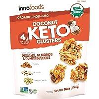 Inno Foods Organic Coconut Keto Cluster (Net Wt 16 Ounce ),
