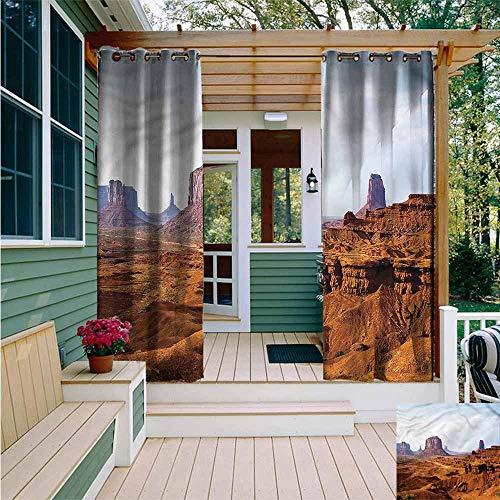 Beihai1Sun Curtains for Living Room,Desert Merritt Butte Sandstones,for Patio/Front Porch,W108x72L (Merritt Bathroom Light)