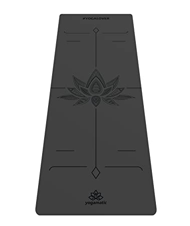 Artmatic Premium Yoga Mat/Natural Rubber Base + Non Slip top/The Best GripForMe System/with Original Unique Alignment/Luxury Professional mat for Yoga