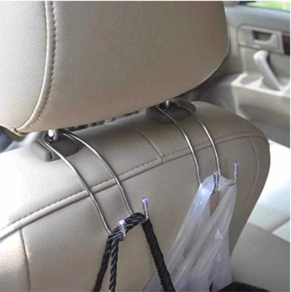 GB4 Magic Platinum Headrest Hook Auto Hooks Car Hangers Organizer-CarHooks Car Headrest Hangers Exceptionally Stylish Back Seat Hanger for Purse,Bags Seat Organizer Accessory for Car