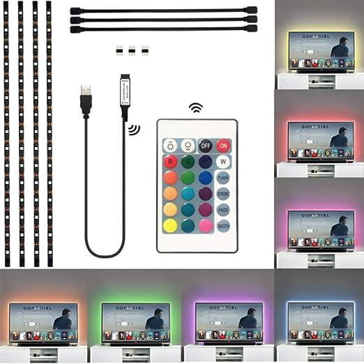 Einsgut Backlight TV LED TV Backlight 5050 LED USB TV Backlight Kits para tableros de PC Televisores de Pantalla Plana, gabinetes de TV y Textiles para el hogar: Amazon.es: Hogar