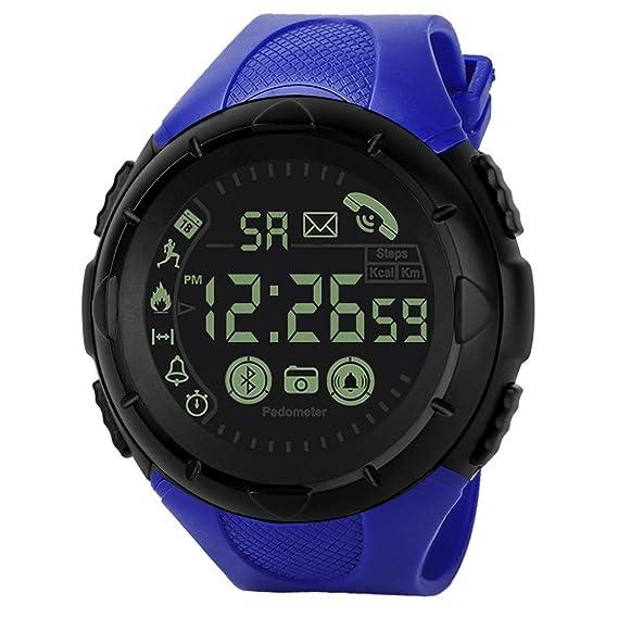 Btruely Smartwatch Reloj Inteligente, Reloj Elegante de Hombres del Bluetooth Reloj Deportivo Digital de Hombres a Prueba de Agua Podómetro Monitor de Ritmo ...