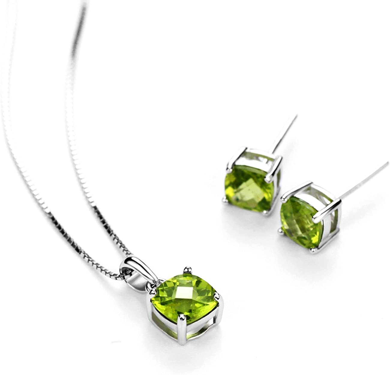 Earring 2.4 925 Sterling Silver  Peridot Gemstone Ethnic Jewelry Earring Anniversary Valentines Birthday Gift for Her