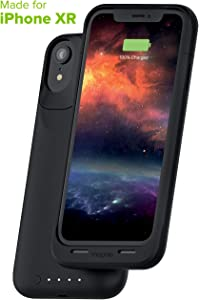 Mophie 401002404 Juice Pack Air - Wireless Charging - Protective Battery Pack Case for Apple iPhone XR – Black