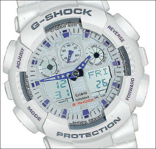 Large Men's White Resin Sport Watch ()
