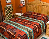Mission Del Rey's Western Bedding Collection - Cochiti Rust King 114''x96''