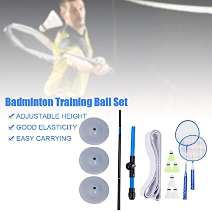 Outdoor Sports Practicing Set hinffinity Badminton Trainer Portable Telescopic Elastic Adjustable Self-Study Rebound Power Base Practice Training Device For Badminton Learners