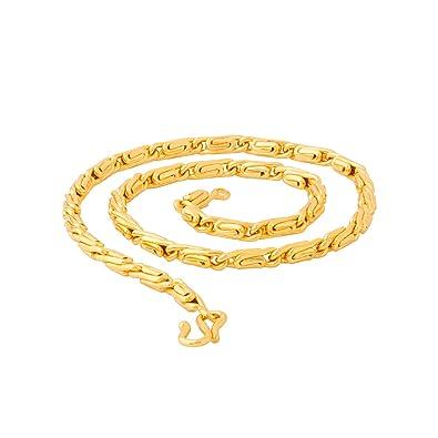 43b274ef3f553 Voylla Chain Necklace for Men (Golden)(8907617097329)  Amazon.in  Jewellery