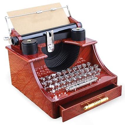WCL Caja De Música Retro Máquina De Coser Decoración Perfecta (Caja De Música Máquina De