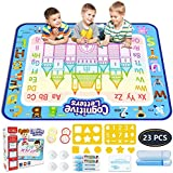 HoneyBun Aqua Doodle MAT Mess Free Drawing Coloring MAT Large 39 X 31 INCHES Educational Learning Toy Magic PENS Water…