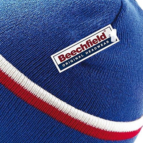 Royal Classic Bright Red White Beechfield Beanie Teamwear BxSIwTt