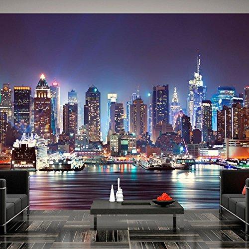 Vlies Fototapete 300x210 cm - 3 Farben zur Auswahl - Top - Tapete - Wandbilder XXL - Wandbild - Bild - Fototapeten - Tapeten - Wandtapete - Stadt City New York d-B-0034-a-b