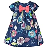 VIKITA Girls Cotton Butterfly Short Sleeve Casual Dress AB1078 5-6 Years
