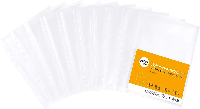 id/éales pour prot/éger papiers et actes pochettes plastiques /à rabat /à ranger dans un classeur perfect line 20 pochettes porte-documents A4 /à ouverture lat/érale