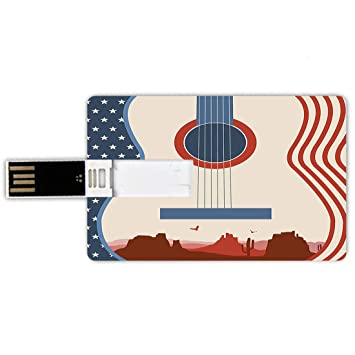 64GB Forma de tarjeta de crédito de unidades flash USB Música ...