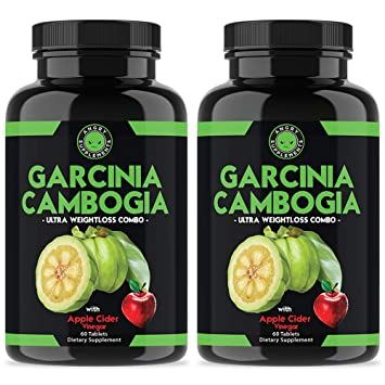 Angry Supplements Garcinia Cambogia with Apple Cider Vinegar Pills for Weightloss - Best Natural Detox Remedy