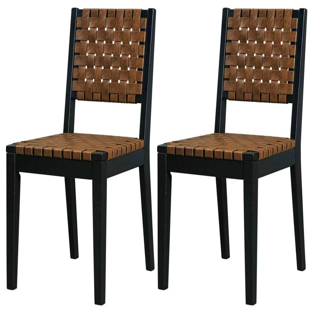 Sensational Amazon Com Dining Chair Pair Set Of Two Woven Medium Back Theyellowbook Wood Chair Design Ideas Theyellowbookinfo