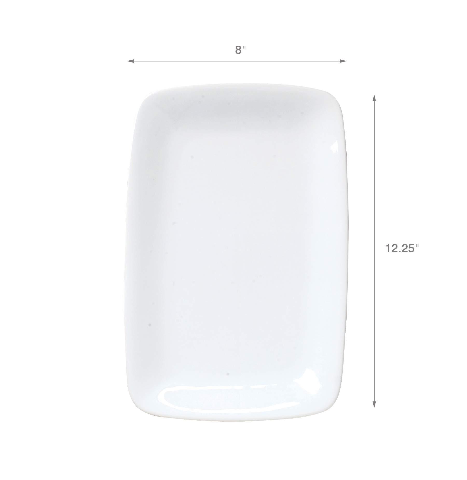 HIC Harold Import Co. HIC Porcelain Rectangle Platter 12.5-Inch, White