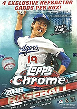 2016 Topps Chrome Mlb Baseball Blaster Box This Value Box Contains 4 Special Sepia Refractors Only Found In Blasters
