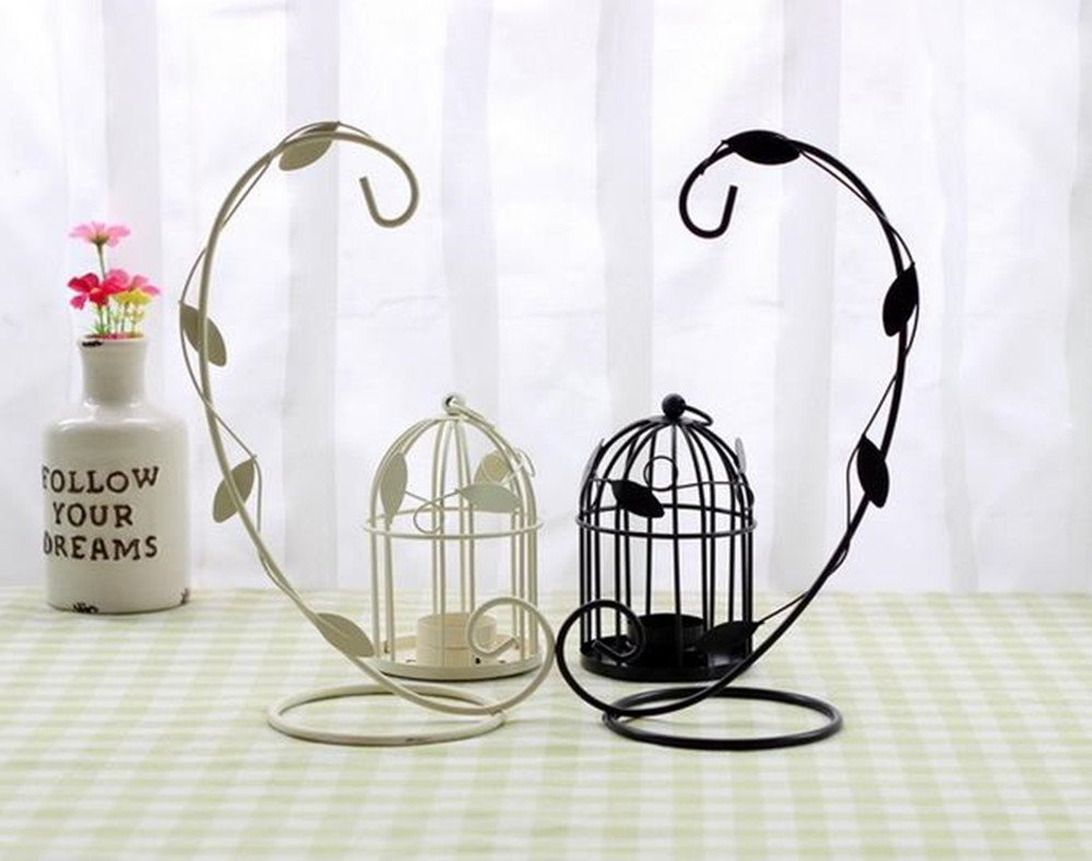 LAAT Candle Holder Birdcage-shape Metal Tealight Lanterns LED Wedding ChristmasTable Home Decoration by LAAT (Image #7)