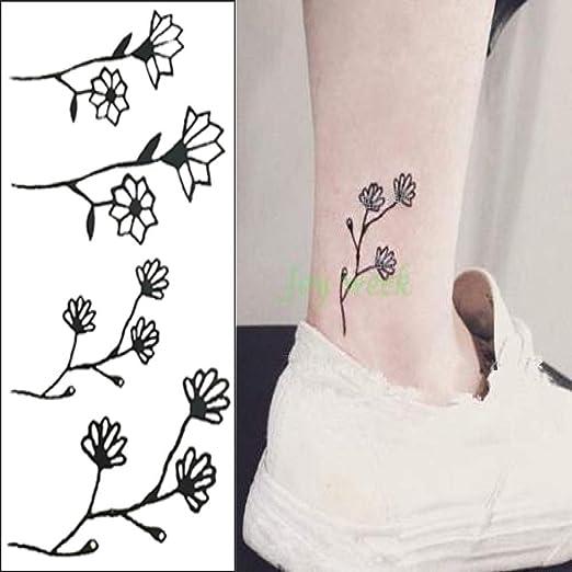 tzxdbh 3pcs Impermeable Etiqueta engomada del Tatuaje Flor de ...
