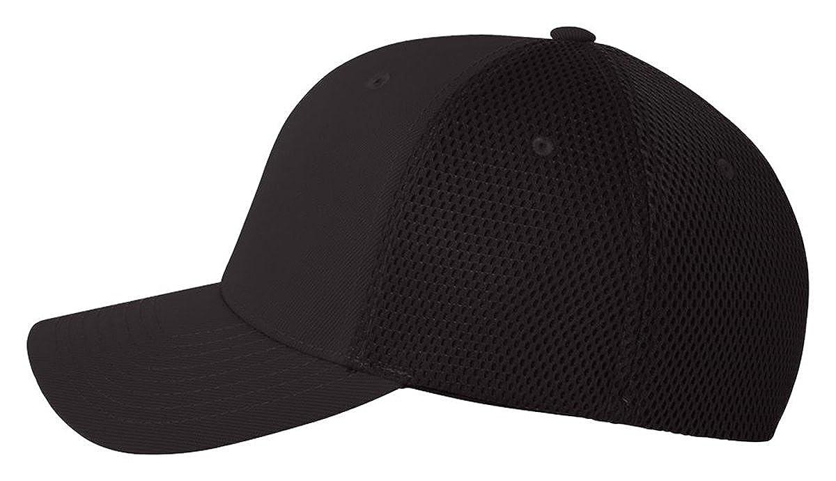 25071fcc5 Flex fit Men's Flexfit Ultrafibre Mesh Fitted Cap (Black, Large/XL):  Amazon.in: Clothing & Accessories